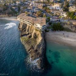 Laguna beach house on a cliff