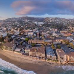Laguna beach aerial panorama from a drone