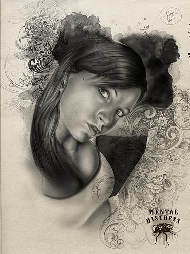 Ritratto Confuso_pencil_watercolor_digital_ps