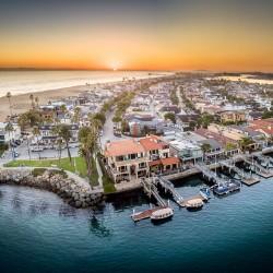 Newport beach by drone