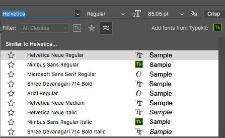 font-similar