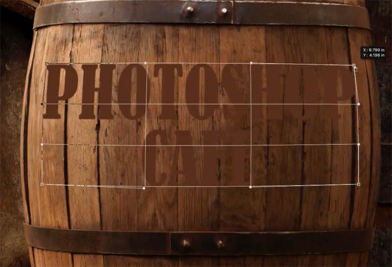 warping text in photoshop