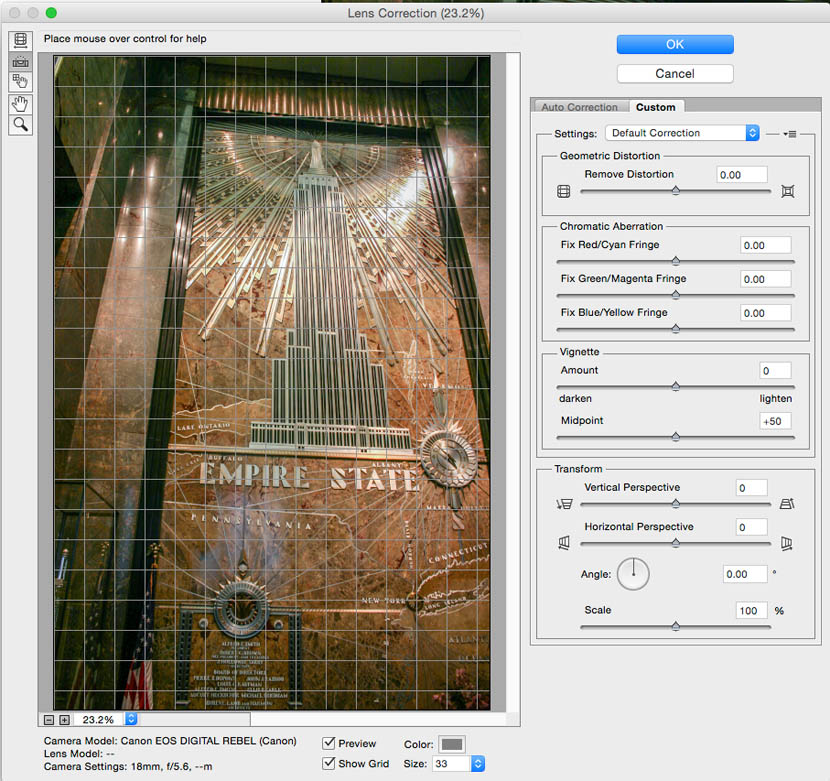 how to change angles on photo straighten ib photoshop