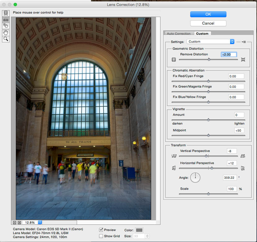 Lens Distortion Correction Online