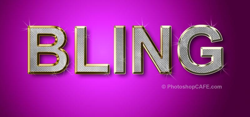 Original Gangsta bling diamonds Photoshop Tutorial - PhotoshopCAFE