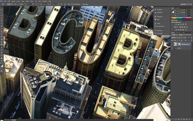 Photoshop CS6 3D Building City Tutorial - PhotoshopCAFE