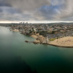 Newport Harbor panorama by drone