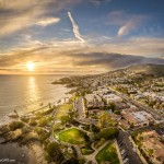Laguna beach aerial panorama from a drone