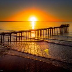 Scripps Pier by drone