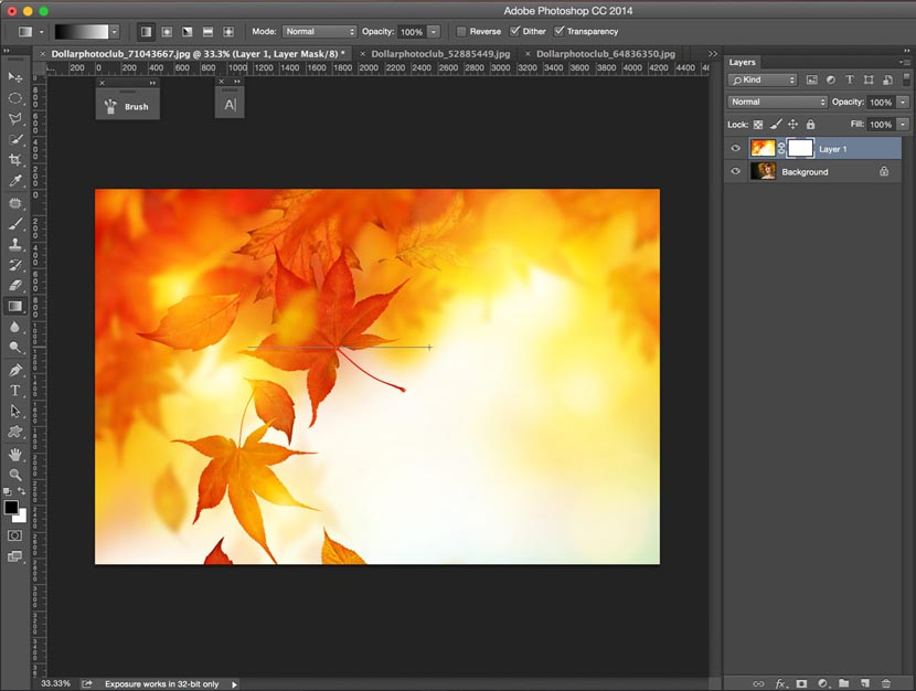 How to put two pictures together in adobe photoshop