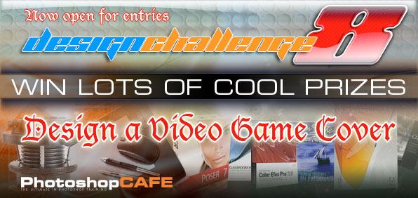 PhotoshopCAFE Design Challenge 8 Video Game Cover - PhotoshopCAFE