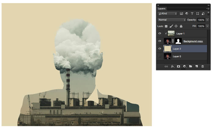 Blending layers in Photoshop, Double Exposure Tutorial