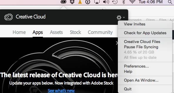 Create Cloud CC 2015.1 updater