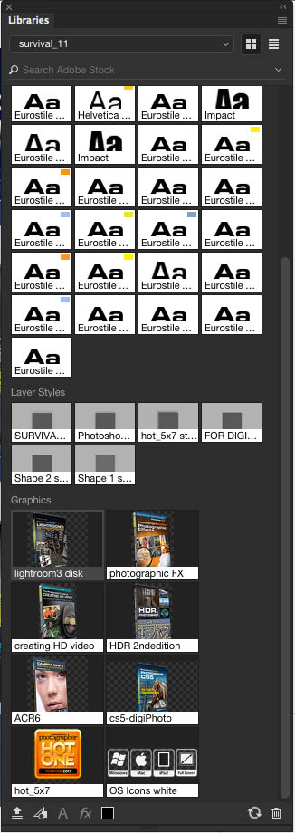 CC Library in Photoshop CC 2015.1
