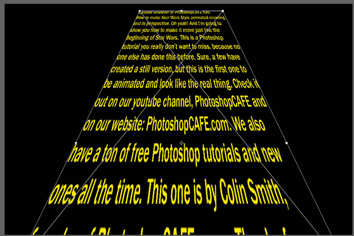 How to Create Animated Star Wars Perspective text effect in
