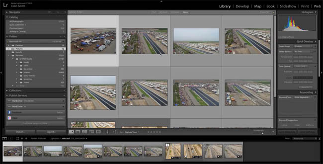 organize adobe lightroom library 03
