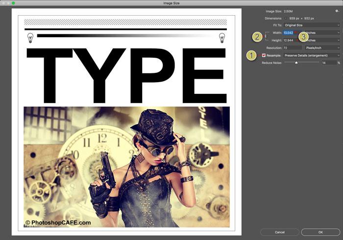 Image resize in photoshop CC