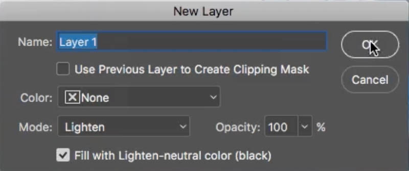new layer with options