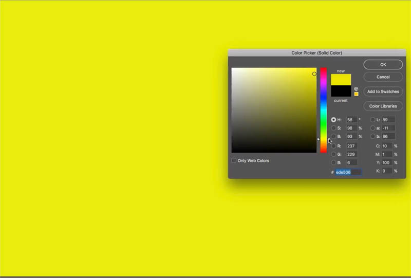 choose color for overlay
