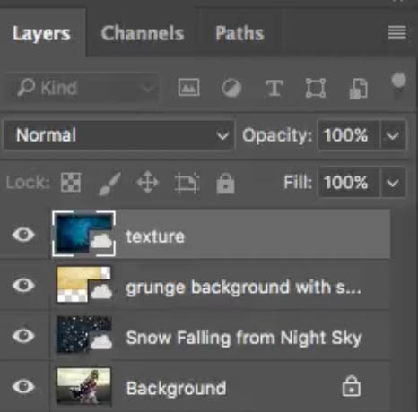 stacking up layers in photoshop
