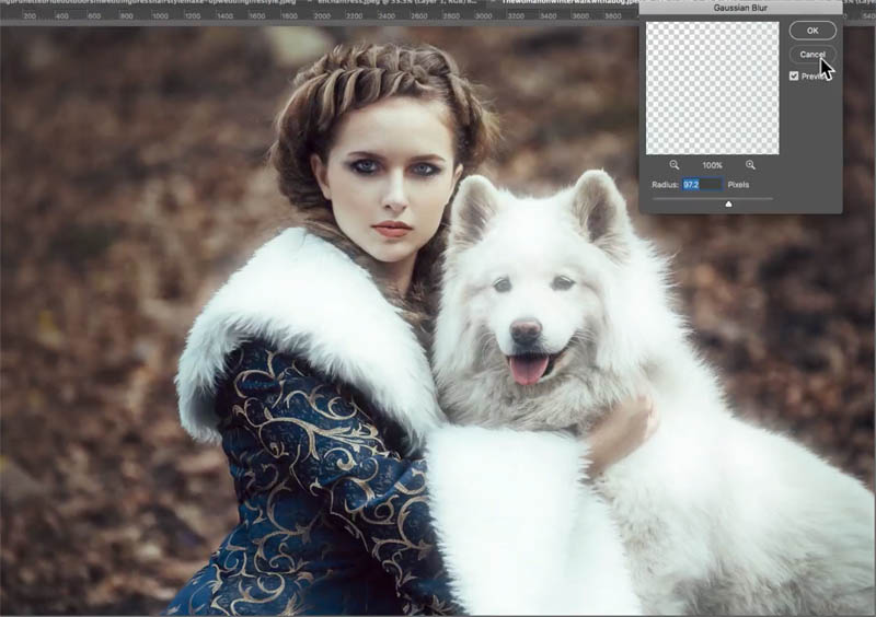 Dreamy, magical glow to add romance to your photo in Photoshop