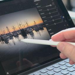 updated Lightroom Mobile on the iPad Pro 2