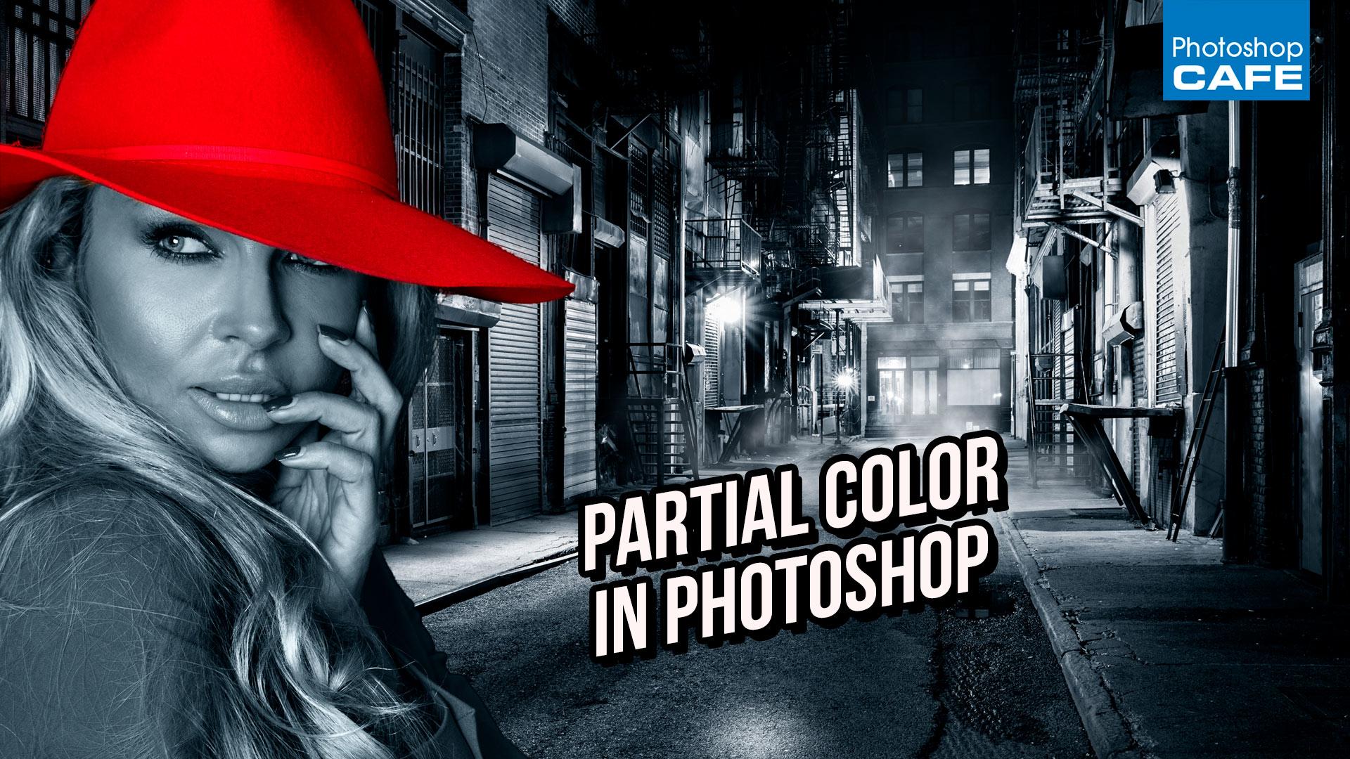 color splash, partial color effect in Photoshop tutorial