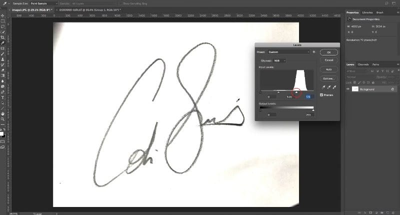 How to turn a signature into a watermark in Photoshop