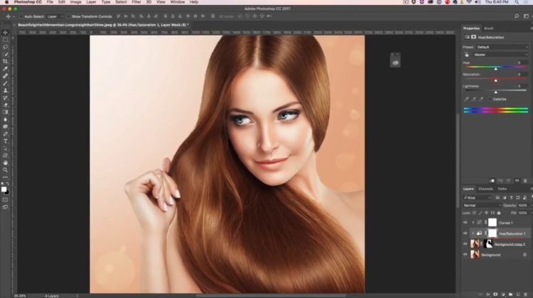 changing hair color in photoshop CC