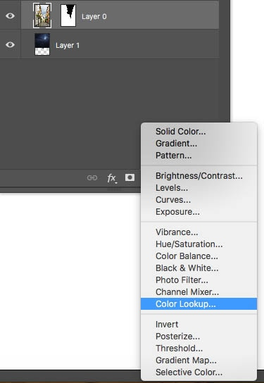 where to find LUTs in Photoshop