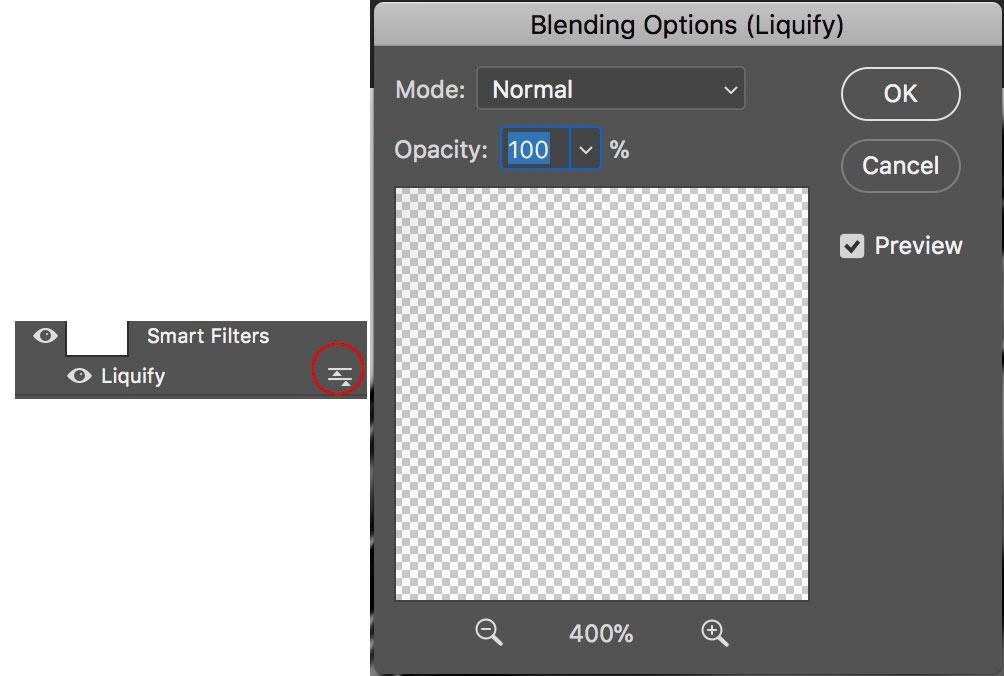 Smart Object Blending Options