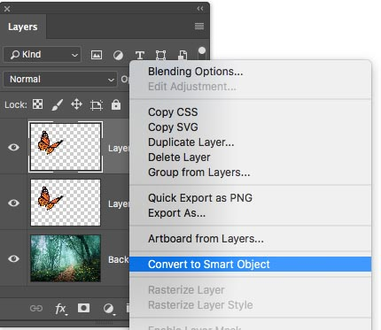 photoshop what is convert to smart object