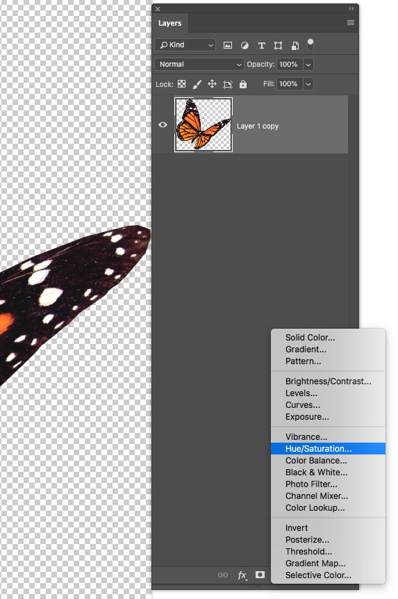 photoshop how to change object color