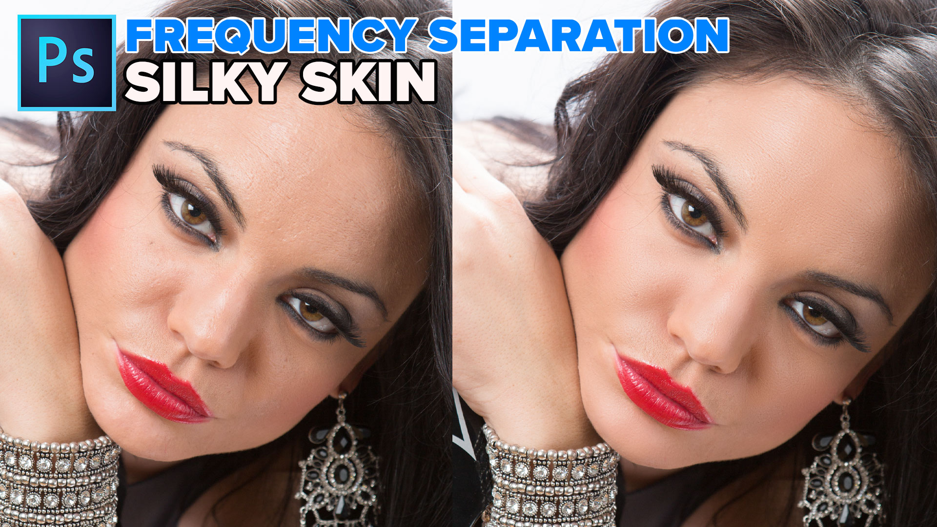 Frequency Separation, silky smooth skin in Photoshop