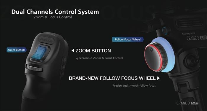 dual servo controls on crane 3 LAB
