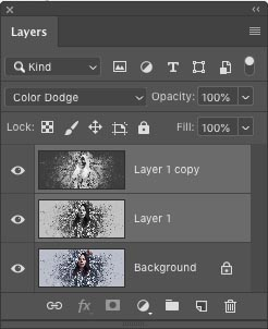 Stacking photoshop layers