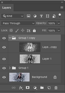 choose a later group in photoshop