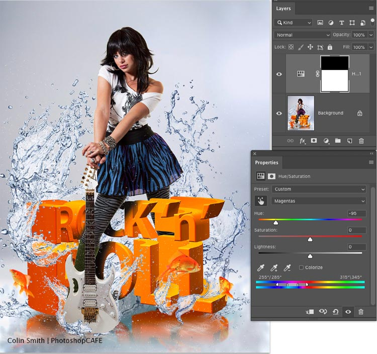 Changing specific color in Photoshop