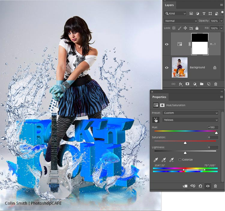 now photoshop has changed it to blue