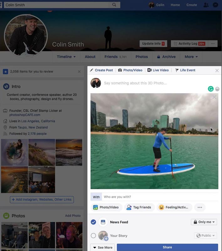 How to turn any photo into a Facebook 3D photo in Photoshop