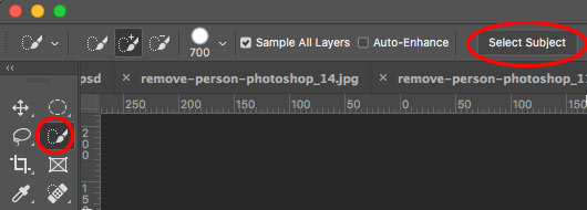 How to remove a person from a photo in Photoshop (Complex