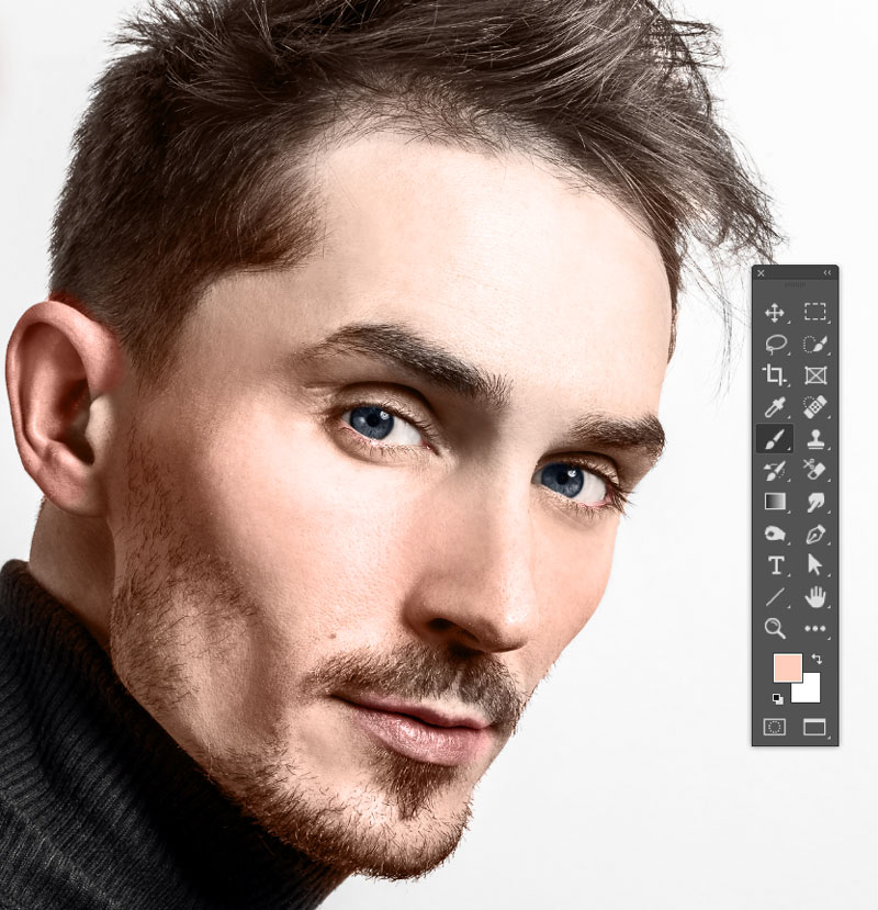 add color to ears in photoshop