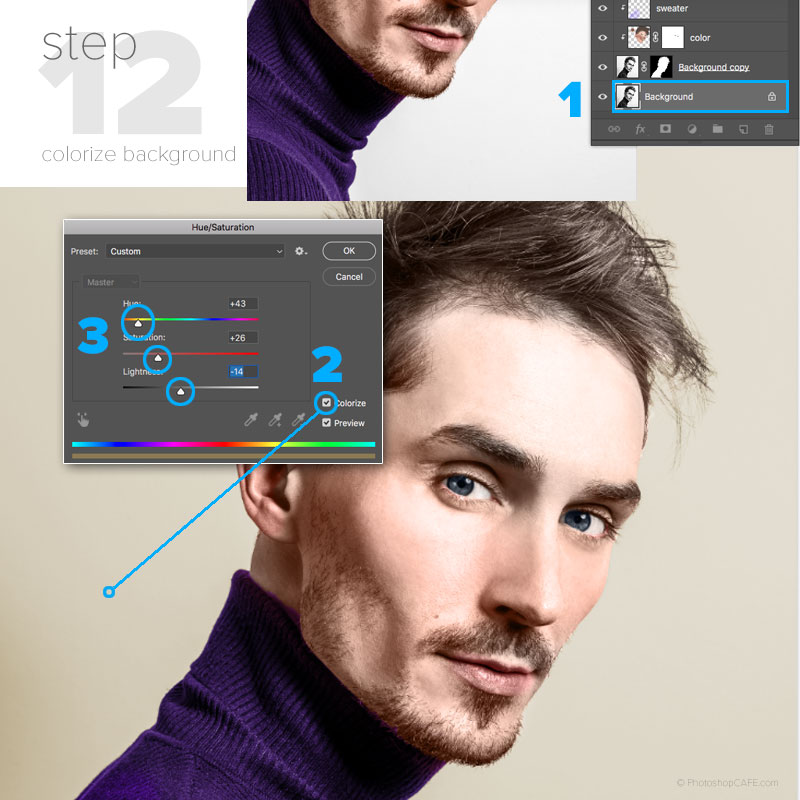 How to change the color of a background in Photoshop