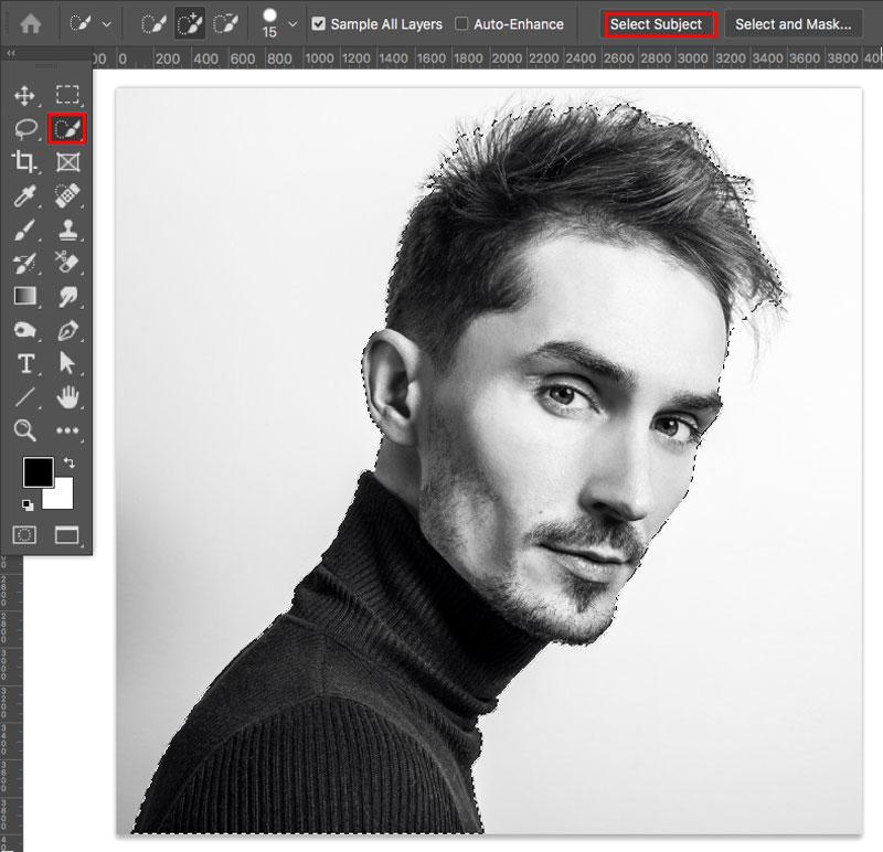 Seleccione el diseño en Photoshop