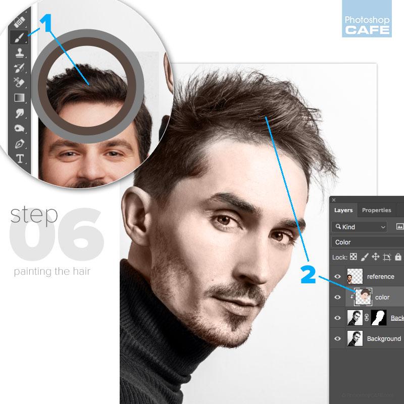 Colorea el cabello en Photoshop