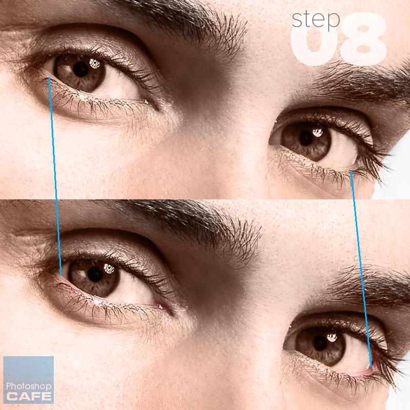 Pintar alrededor de los ojos en Photoshop