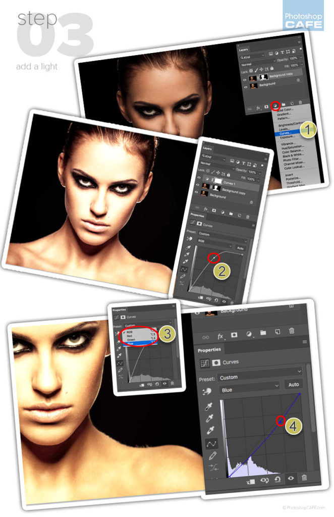 how to light a face in photoshop