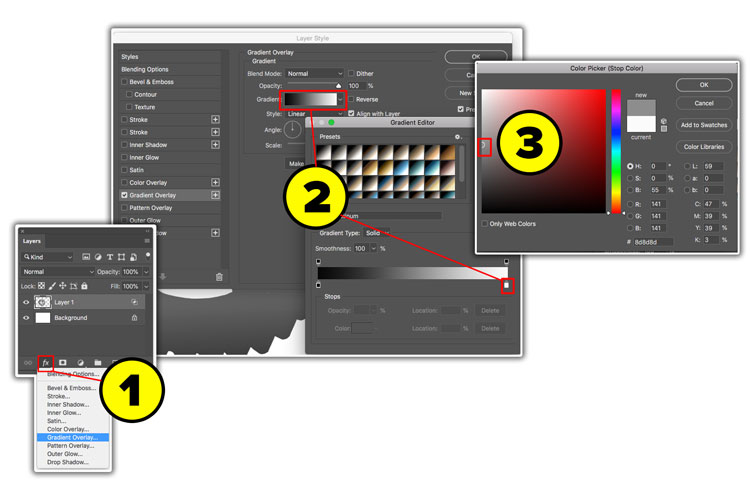 how to make a custom gradient in photoshop
