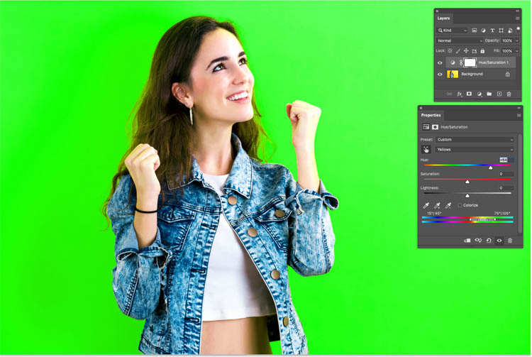 Change the background color in Photoshop