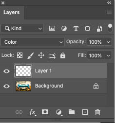 make a new photoshop layer
